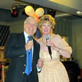 Image of Caroline with singer Jimmy McWilliams